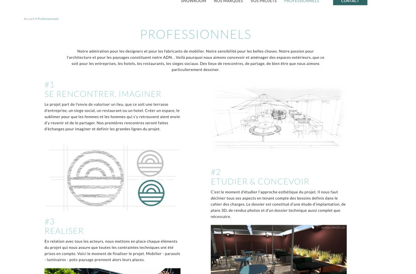 TERRASSE & DEPENDANCES / WEB